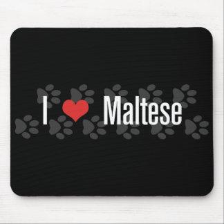 I (heart) Maltese Mouse Pad
