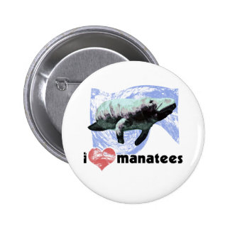 I Heart Manatees Pinback Buttons