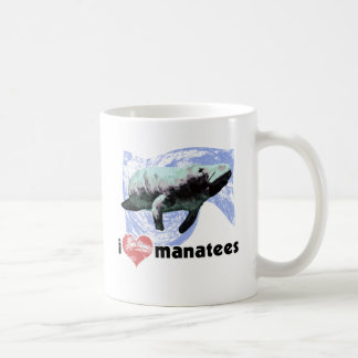 I Heart Manatees Classic White Coffee Mug