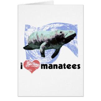 I Heart Manatees Greeting Card