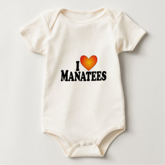 I (heart) Manatees - Lite Products Baby Bodysuit