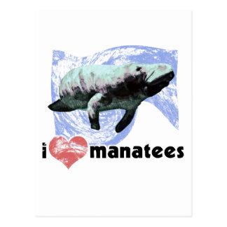 I Heart Manatees Postcard