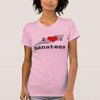 I heart manatees T-shirt - light