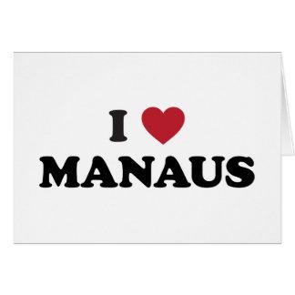 I Heart Manaus Brazil Card