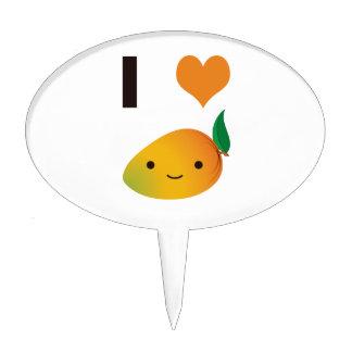 I Heart Mango Cake Pick