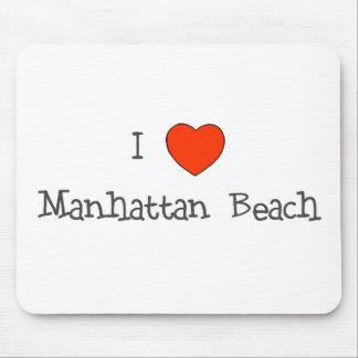 I Heart Manhattan Beach Mouse Pad