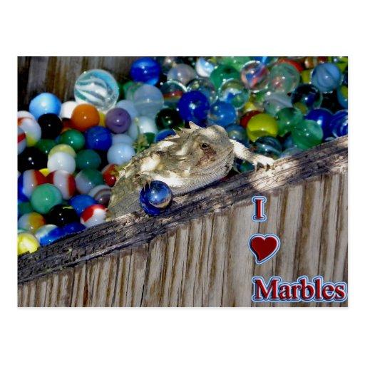 I Heart Marbles Postcard