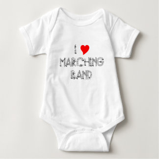I Heart Marching Band Baby Bodysuit