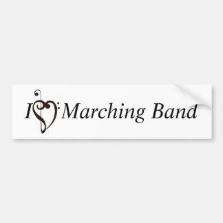 I Heart Marching Band Car Bumper Sticker