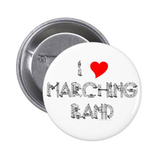 I Heart Marching Band Pin
