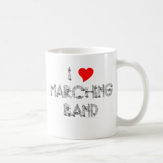 I Heart Marching Band Coffee Mug
