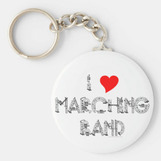 I Heart Marching Band Keychain