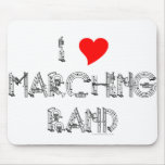 I Heart Marching Band Mouse Pad