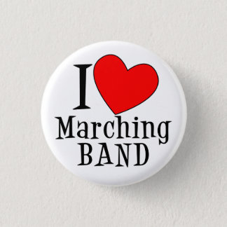 I heart Marching BAND Pinback Button