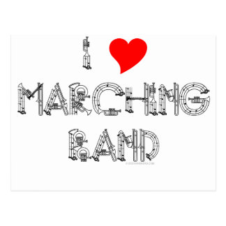 I Heart Marching Band Postcard