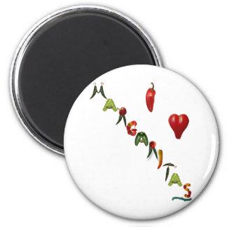 I Heart Margaritas 2 Inch Round Magnet