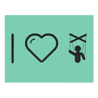 I Heart Marionettes Postcard