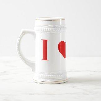 I Heart Mars Beer Stein