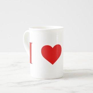 I Heart Mars Bone China Mug