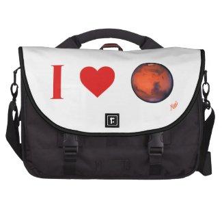 I Heart Mars Commuter Laptop Bag