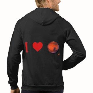 I Heart Mars Fleece Zip Hoodie