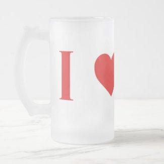I Heart Mars Frosted Mug