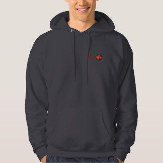 I Heart Mars Hooded Sweatshirt for Men