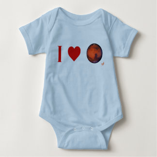 I Heart Mars Infant Creeper -- Pk. Bl. Wt. and Gr.