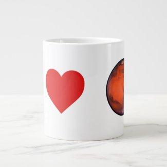 I Heart Mars Jumbo Mug -- 20oz.