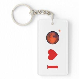 I Heart Mars Keychain