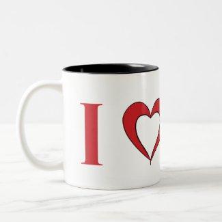 I Heart Mars -- Large Two Tone Mug