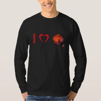 I Heart Mars Men's Long Sleeve T-shirt
