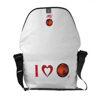 I Heart Mars Messenger Bag