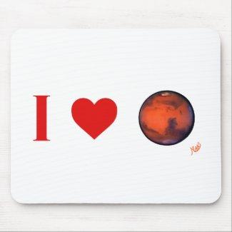 I Heart Mars Mousepad