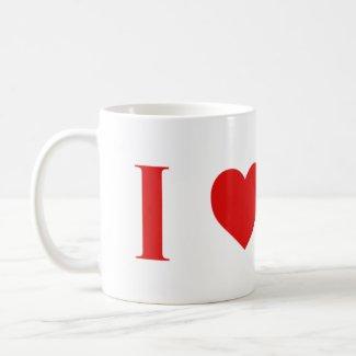 I Heart Mars Mug -- Two Tone