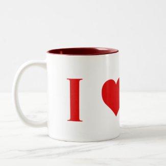 I Heart Mars Mug -- Two Tone - 11 oz.
