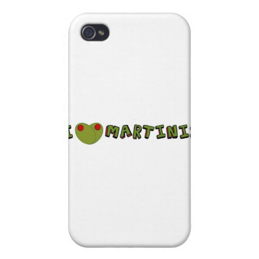 I heart martinis iPhone 4 covers