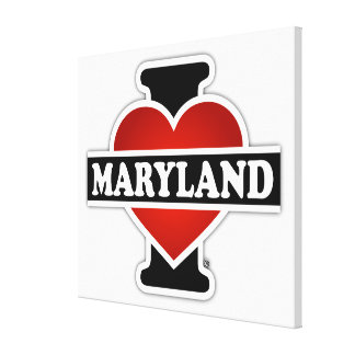 I Heart Maryland Canvas Print