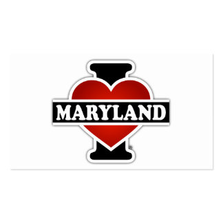 I Heart Maryland Double-Sided Standard Business Cards (Pack Of 100)