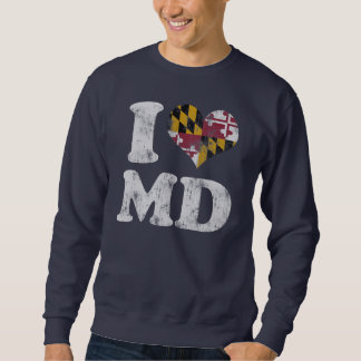 I heart Maryland Flag MD Sweatshirt