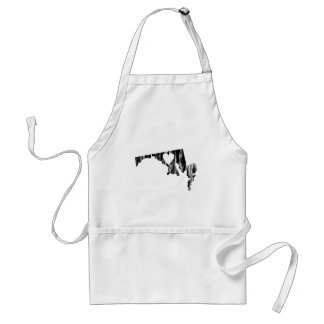 I Heart Maryland Grunge Look Outline State Love Adult Apron