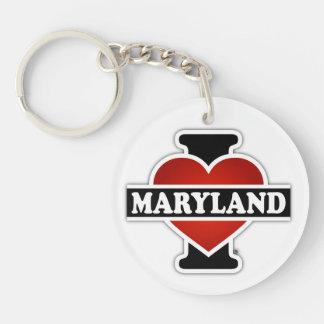 I Heart Maryland Keychain