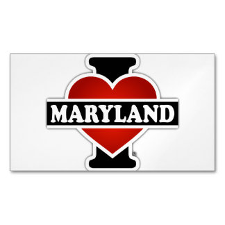 I Heart Maryland Magnetic Business Card