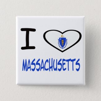 I heart Massachusetts Button