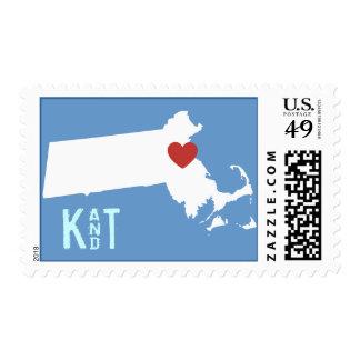 I Heart Massachusetts - Customizable City Stamp