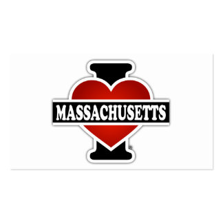 I Heart Massachusetts Double-Sided Standard Business Cards (Pack Of 100)