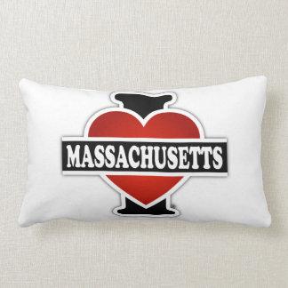I Heart Massachusetts Lumbar Pillow