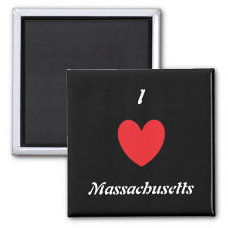 I Heart Massachusetts Magnet