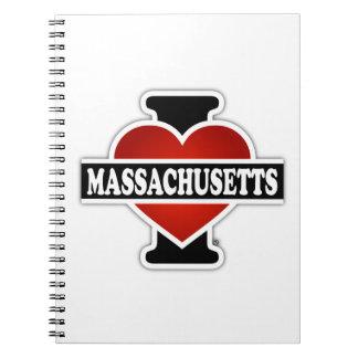 I Heart Massachusetts Notebook