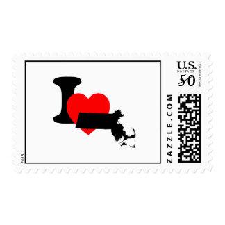 I Heart Massachusetts Postage